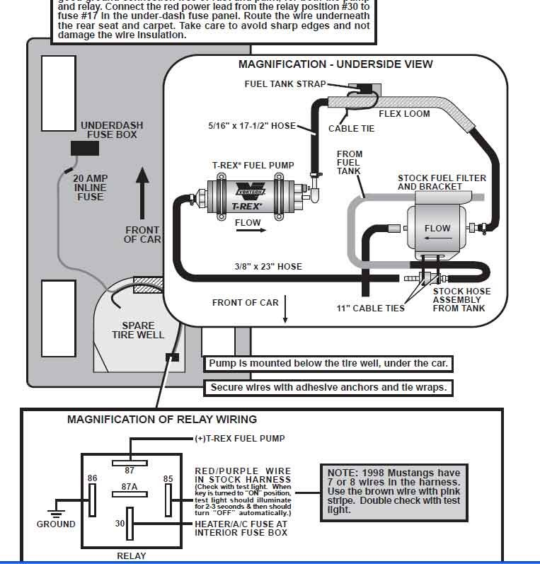 rex wiring diagram fuel pump power problem help ford mustang forum ...