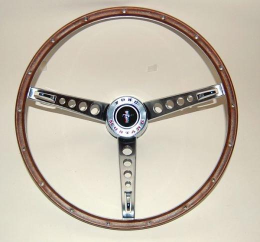 1965 1966 mustang real wood steering wheel ford mustang. Black Bedroom Furniture Sets. Home Design Ideas