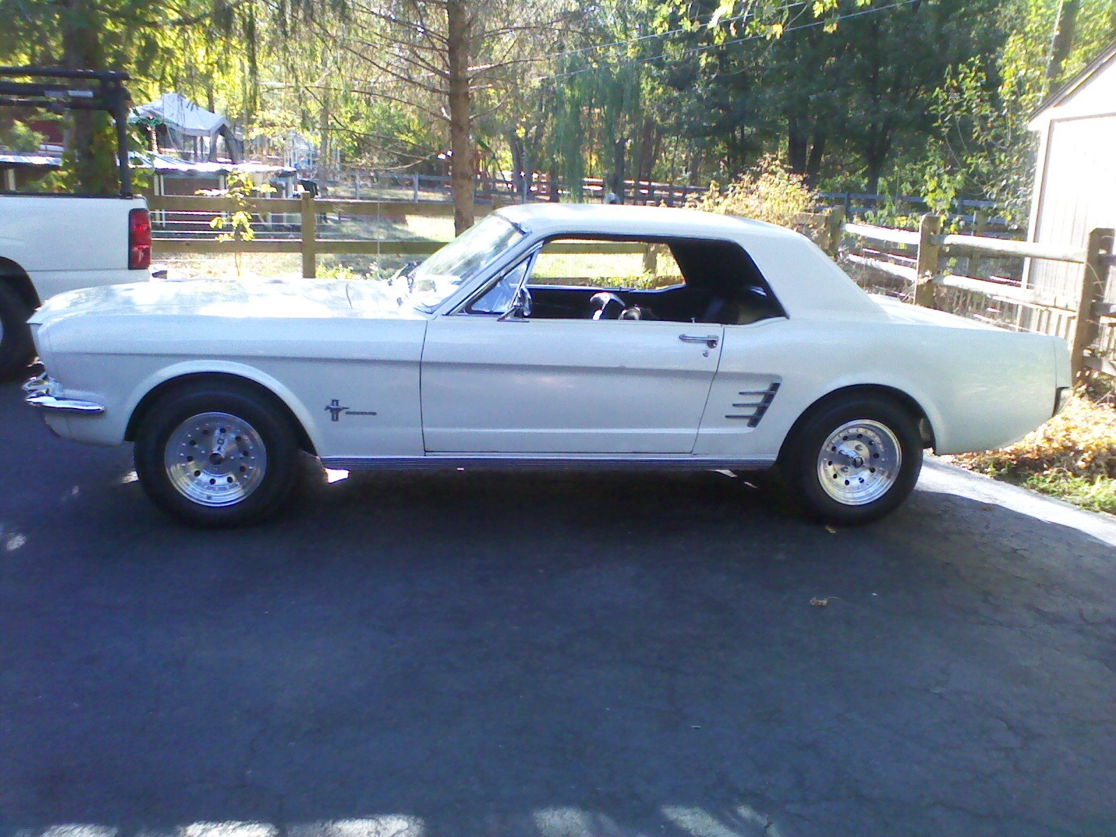 D Post Pictures Your Classic Mustang White Mustang Driveway on 1966 Mustang Vin Location
