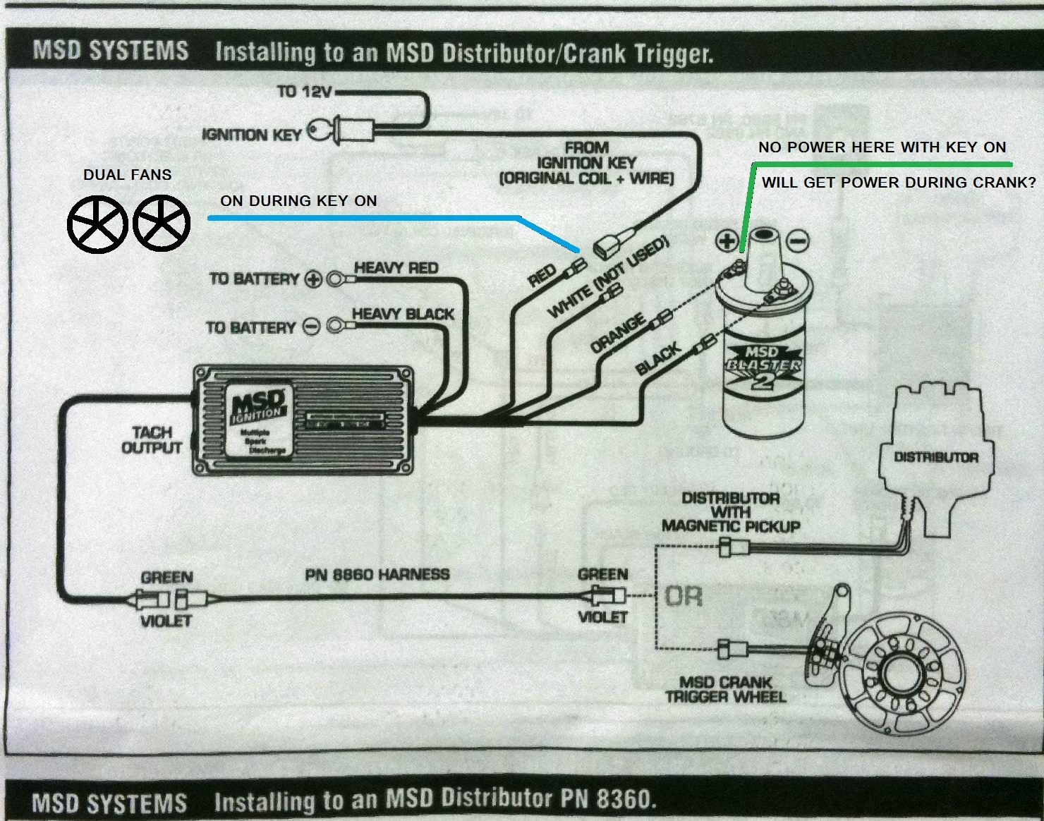 114688d1288762436 coil wire always key only wiring msd is the coil wire always on or key on only? ford mustang forum MSD 6AL Wiring Diagram Chevy at mifinder.co
