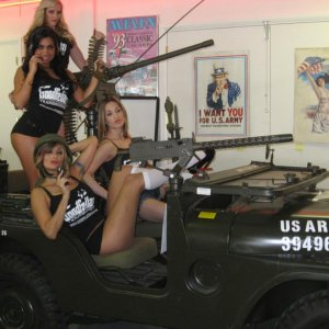 Jeep and Army Babes