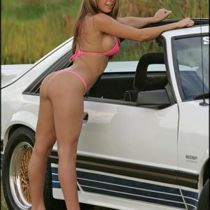 Hot Bikini Babe With 5.0 Mustang
