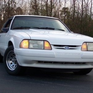 93 LX Fastback white with Blue Interior