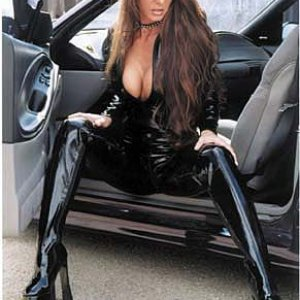 Leather Clad Mustang Babe