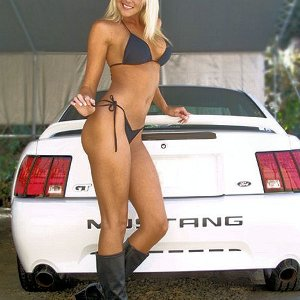 Beautiful Blond Mustang Babe