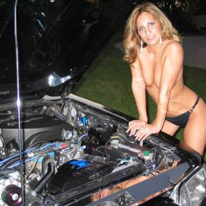 One Hot Fox Mustang Mechanic