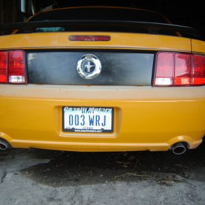 Dual exhaust/GT bumper pics, and stable pic : )