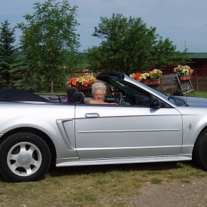 This is my mom - mustang Sally...off to town!