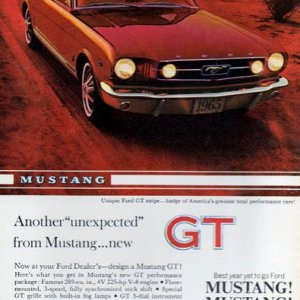 65-66 mustang ads