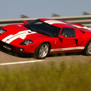 Red 2005 Ford GT 1024x768