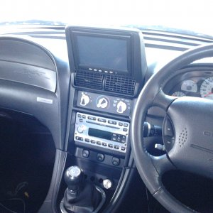 2001 SVT Cobra hand made touchscreen bezel