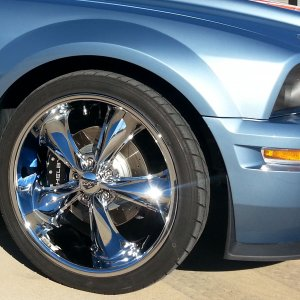 2007 Mustang GT w/ GT500 conversion Windveil Blue