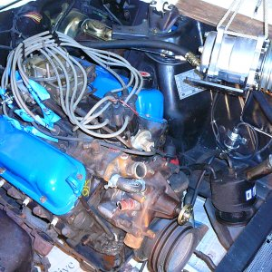1966 C-code coupe engine compartment restoration