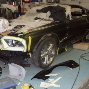 designing & fabracating  the REVERSION Mustang GT
