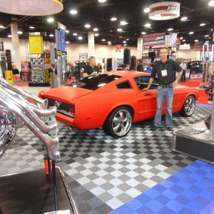 Johnny Sparks with his REVERSION Mustang GT  SEMA 2011