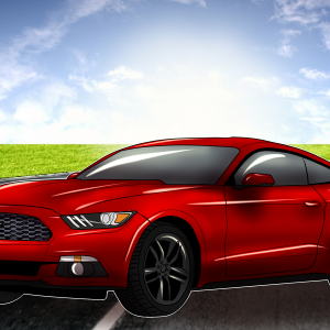 Artwork of my Ruby Red 2017 Ford Mustang