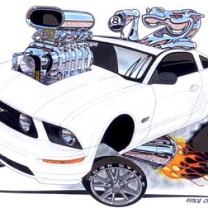 """HORSE PLAY"" 2006 Mustang by Vince Crain"