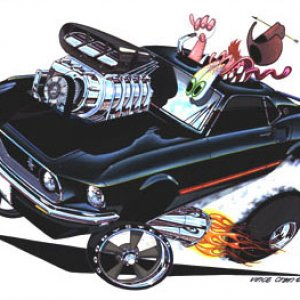 """HORSE POWER"" 1969 Mustang by Vince Crain"