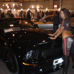 Car Show Model With Cervini Mustang