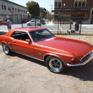 1969 Mustang Grande Indian Fire Red