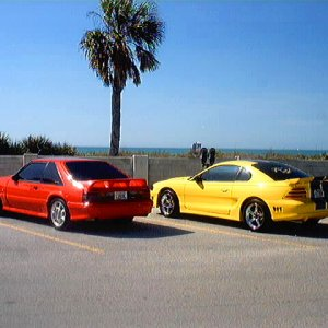 1993 Mustang Cobra Coupe and 1994 Saleen Mustang