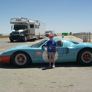 My Son with a Real GT 40