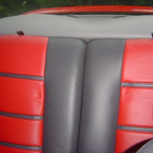 2002 Mustang Coupe - Rear Interior Detail