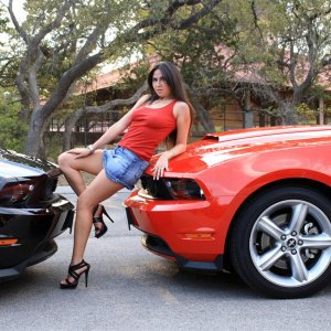 2011 Mustang GT Meets a Hot Babe
