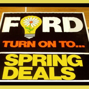1967 68 69 70 71 Turn on to Spring Ford Showroom Poster Big 6.3x5.9 ft 75x6