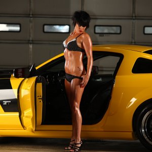 Hot Babe With My 2006 Mustang