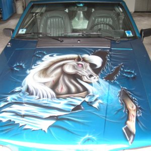 "custom airbrushed ""mustang"""
