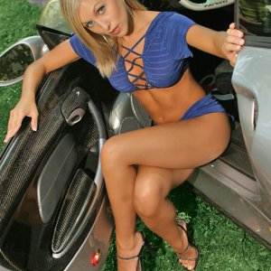 Exotic Car Babe Posing