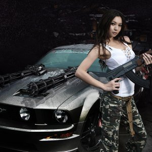 Hot Babe With 2005 Mustang GT