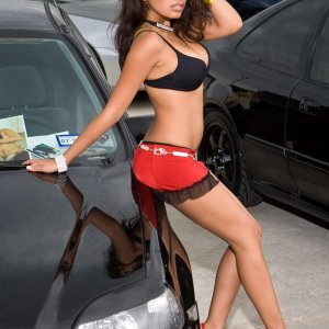 Super Hot Car Babe