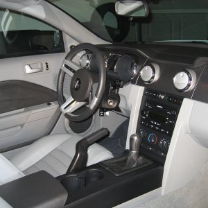 07 Mustang Gt, Interior view